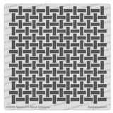 Basketweave Stencil ©2021 Newton's Nook Designs