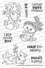 Captivated Kittens Stamp Set ©2021 Newton's Nook Designs