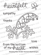 Bleeding Heart Stamp Set ©2021 Newton's Nook Designs