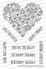 Heartfelt Blooms Stamp Set ©2021 Newton's Nook Designs