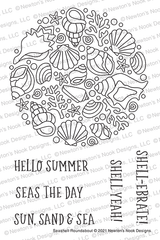 Seashell Roundabout Stamp Set ©2021 Newton's Nook Designs