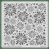 Fireworks Stencil ©2021 Newton's Nook Designs