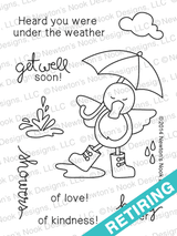 Spring Showers - 3x4 photopolymer duck / get well stamp set ©2014 Newton's Nook Designs.