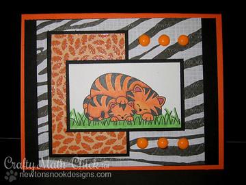 Tiger and cub card  | Wild Child stamp set ©2014 Newton's Nook Designs