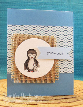 You're Cool Penguin Card | Wild Child stamp set ©2014 Newton's Nook Designs