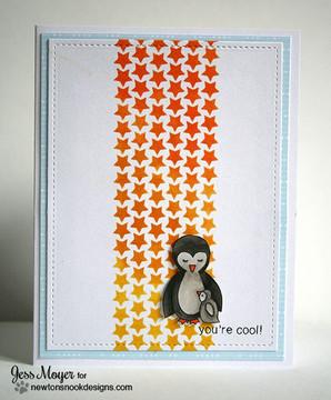 You're Cool Penguin Card | Wild Child stamp set ©2014 Newton's Nook Designs