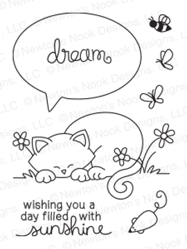 Newton's Day Dream | 3x4 photopolymer Stamp Set | ©2014 Newton's Nook Designs