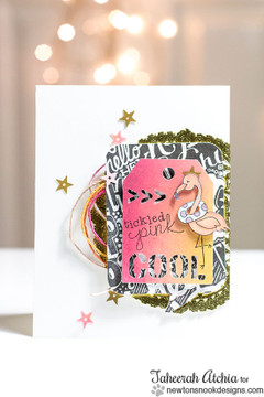 Fun Flamingo card | Flirty Flamingos stamp set ©2014 Newton's Nook Designs