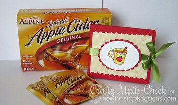 Apple Cider Holder | Apple Delights | 3x4 photopolymer Stamp Set | ©2014 Newton's Nook Designs