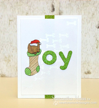 Dachshund Christmas Card | Holiday Hounds | 4x6 photopolymer Stamp Set | ©2014 Newton's Nook Designs