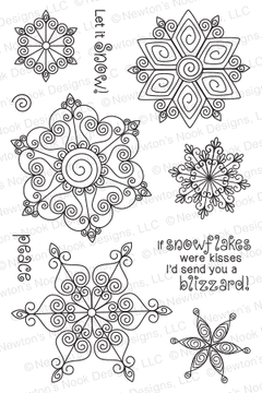 Beautiful Blizzard | 4x6 photopolymer Stamp Set | ©2014 Newton's Nook Designs