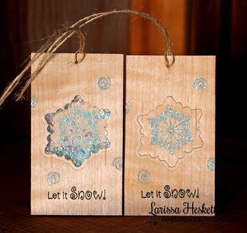 Snowflake Tags | Winter Tails | 4x6 photopolymer Stamp Set | ©2014 Newton's Nook Designs
