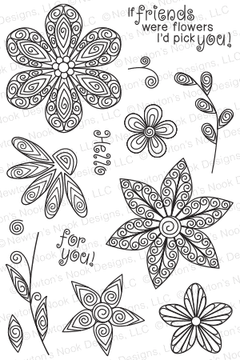 Beautiful Blossoms | 4x6 Photopolymer Stamp Set | ©2015 Newton's Nook Designs