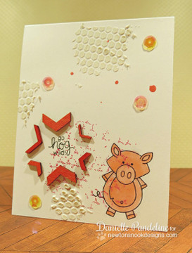 Party Pig Card | Farmyard Friends | 4x6 photopolymer Stamp Set | ©2015 Newton's Nook Designs