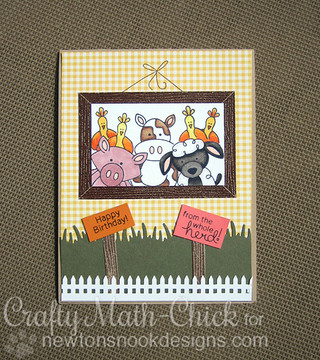 Farmyard Birthday Card | Farmyard Friends | 4x6 photopolymer Stamp Set | ©2015 Newton's Nook Designs