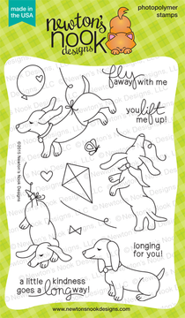 Delightful Doxies | 4x6 Photopolymer Stamp Set | © 2015 Newton's Nook Designs
