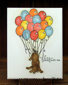 Dachshund Friendship Card   Delightful Doxies   4x6 photopolymer Stamp Set   © 2015 Newton's Nook Designs