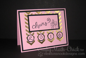 New Years  Card | Years of Cheers | 3x4 photopolymer Stamp Set | © 2015 Newton's Nook Designs