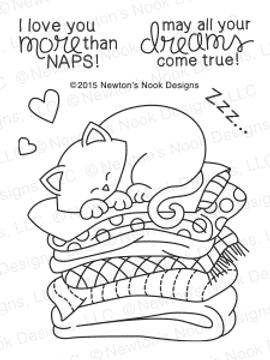 Newton's Naptime | 3x4 Photopolymer Stamp Set | ©2015 Newton's Nook Designs