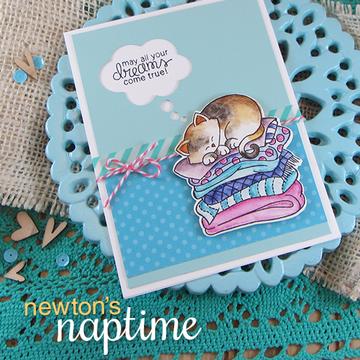 Cat Friendship Card   Newton's Naptime Stamp Set ©2015 Newton's Nook Designs
