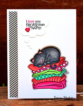 Cat Love Card | Newton's Naptime Stamp Set ©2015 Newton's Nook Designs
