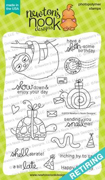 In Slow Motion | 4x6 Photopolymer Stamp Set | Newton's Nook Designs