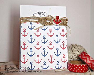 Anchor Friendship Card | Message In A Bottle Stamp Set ©2015 Newton's Nook Designs