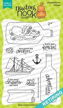Message In A Bottle | 4x6 Photopolymer Stamp Set | ©2015 Newton's Nook Designs