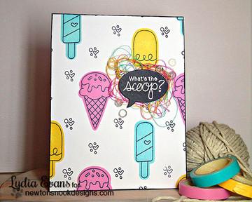 Ice Cream Friendship Card | Summer Scoops Stamp Set ©2015 Newton's Nook Designs