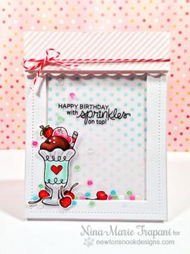 Ice Cream Birthday Card | Summer Scoops Stamp Set ©2015 Newton's Nook Designs