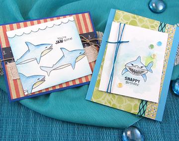 Shark Bites Stamp Set  ©2015 Newton's Nook Designs