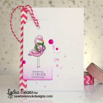 Festive Flamingos   3x4 Photopolymer Stamp Set   ©2015 Newton's Nook Designs