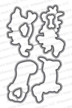 Holiday Hounds | Die Set | ©2015 Newton's Nook Designs