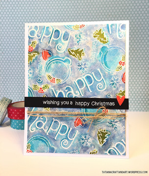 Happy Christmas Card | Simply Seasonal | 4x6 Photopolymer Stamp Set | ©2015 Newton's Nook Designs