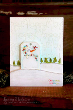 Happy Winter Snowman Card | Simply Seasonal | 4x6 Photopolymer Stamp Set | ©2015 Newton's Nook Designs