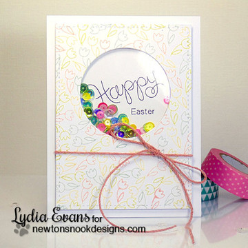 Happy Easter Card | Simply Seasonal | 4x6 Photopolymer Stamp Set | ©2015 Newton's Nook Designs
