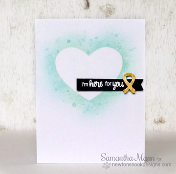 I'm here for you card using Newton's Support Stamp Set ©2016 Newton's Nook Designs
