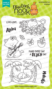 Aloha Newton Stamp Set ©2016 Newton's Nook Designs