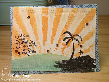 Paradise Palms Stamp Set ©2016 Newton's Nook Designs