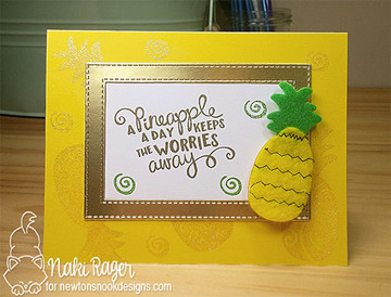 Pineapple Delight Stamp Set ©2016 Newton's Nook Designs