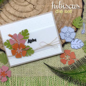 Hibiscus Die Set ©2016 Newton's Nook Designs