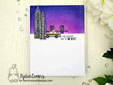 Newton Dreams of New York Stamp Set ©2016 Newton's Nook Designs