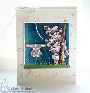 Raccoon Rascals Stamp Set ©2016 Newton's Nook Designs