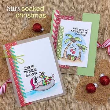 Sun Soaked Christmas Stamp Set ©2016 Newton's Nook Designs