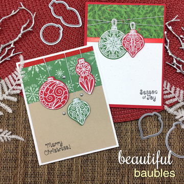 Beautiful Baubles Stamp Set ©2016 Newton's Nook Designs