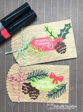 Pines & Holly Die Set ©2016 Newton's Nook Designs