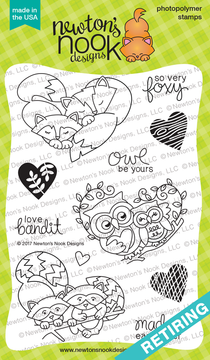 Woodland Duos Stamp Set ©2017 Newton's Nook Designs