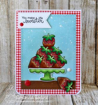 Love & Chocolate Stamp Set ©2017 Newton's Nook Designs