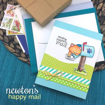 Newton's Happy Mail Stamp Set ©2017 Newton's Nook Designs