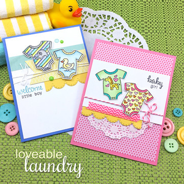 Loveable Laundry Stamp Set ©2017 Newton's Nook Designs